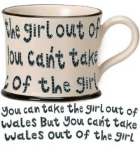 Girl out of Wales ENGLISH Mug